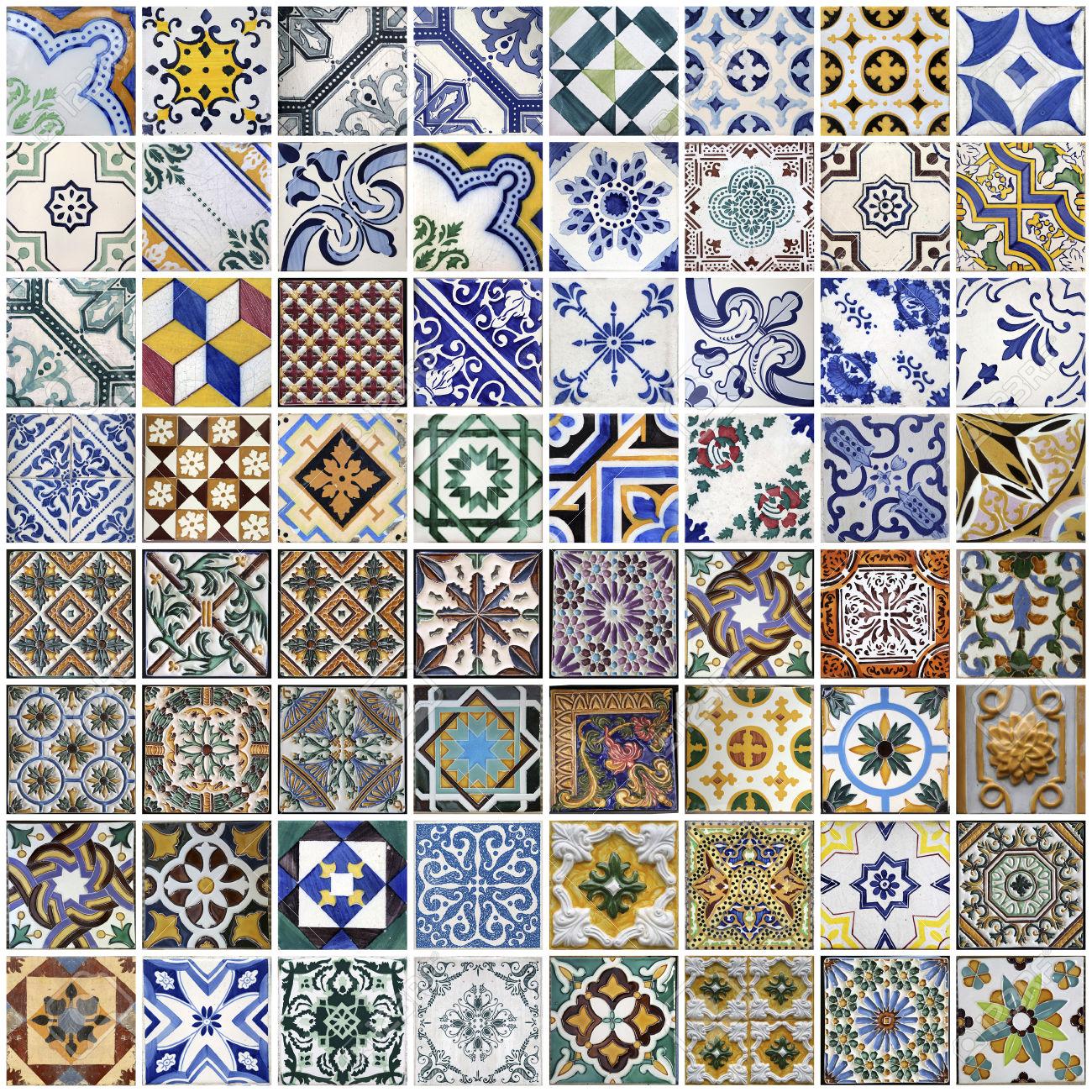 Мозаика из плитки азулежу
