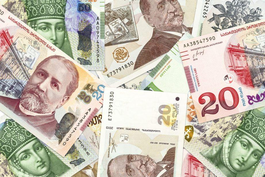 Купюры лари - грузинская валюта