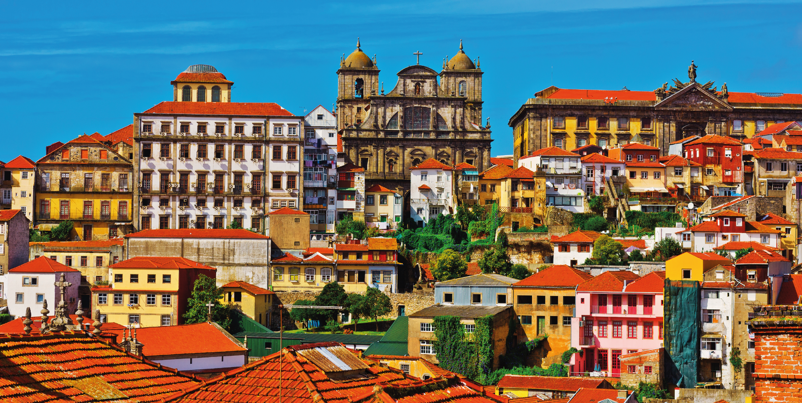 Фасады домов города Порту
