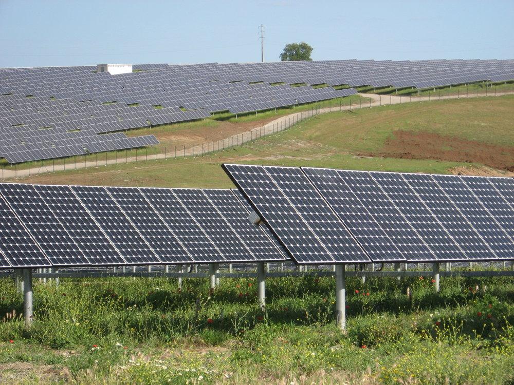 Фото: солнечная ферма в Португалии