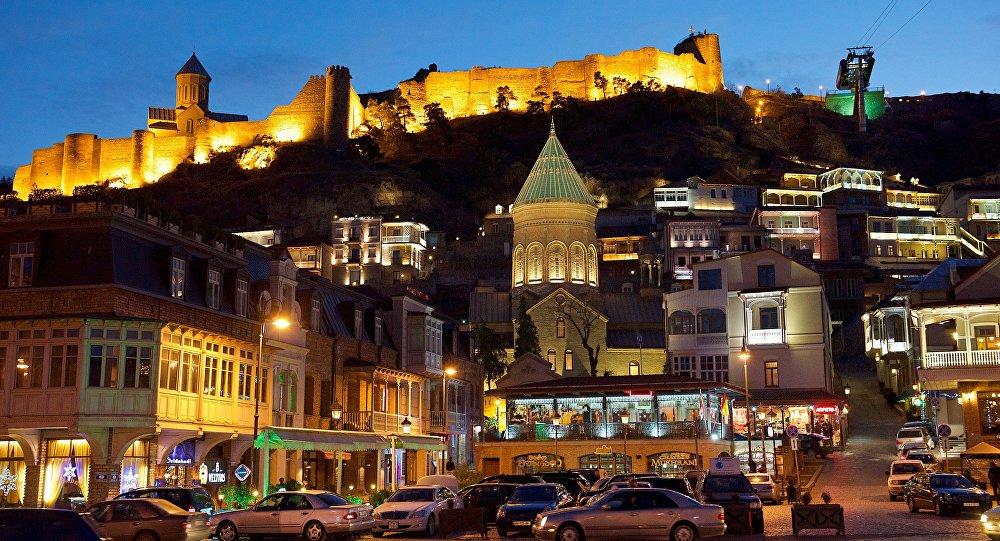 Тбилиси в вечернее время