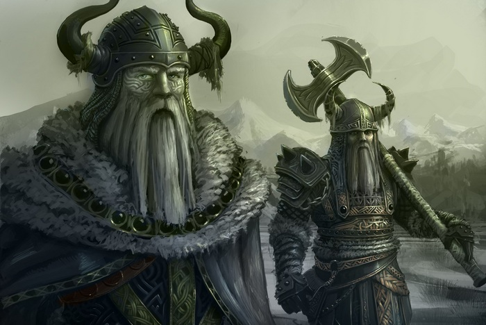 Картина с изображением викингов