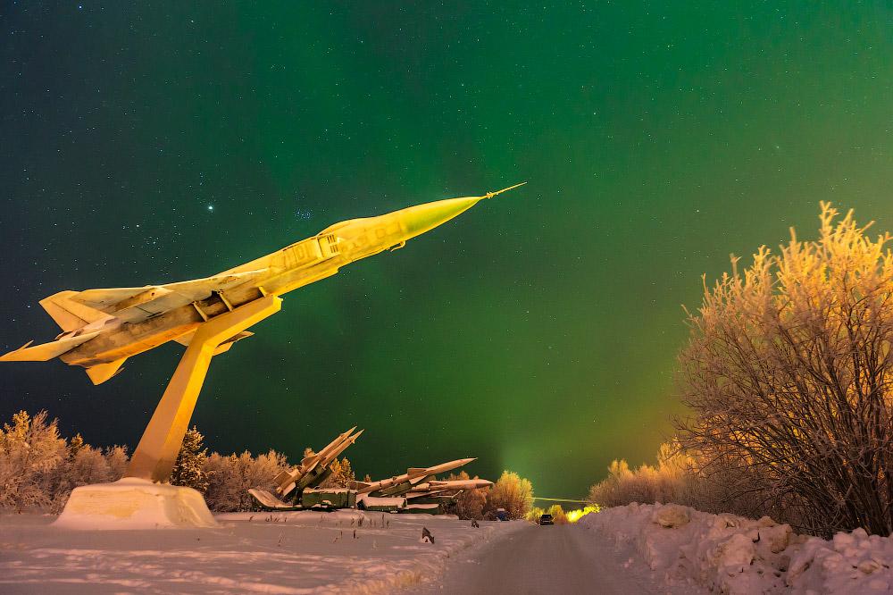 Северный свет в Мурманске