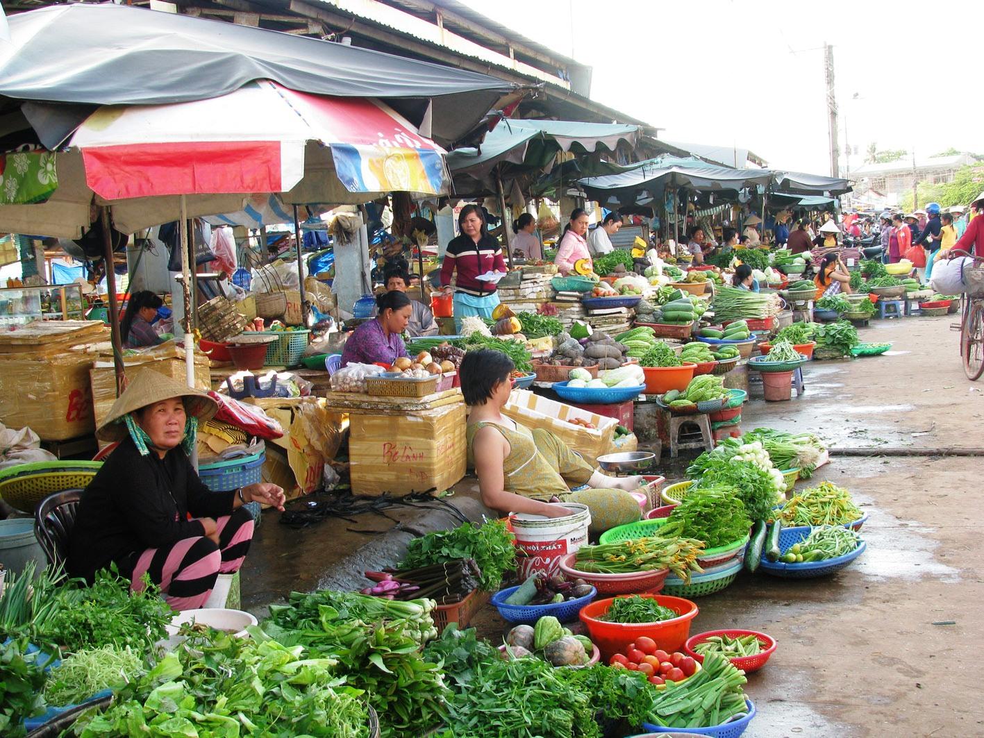 На рынке Хам Тьен