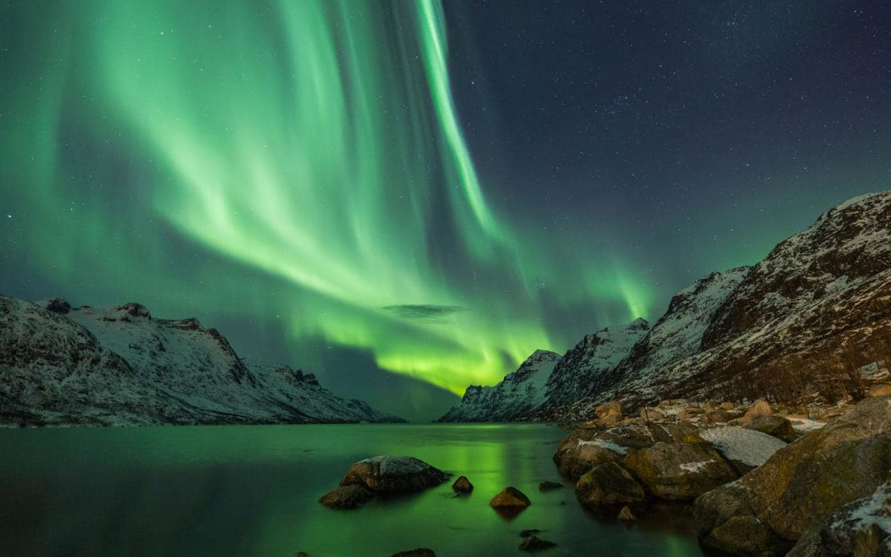 Фото: природное явление - полярное сияние