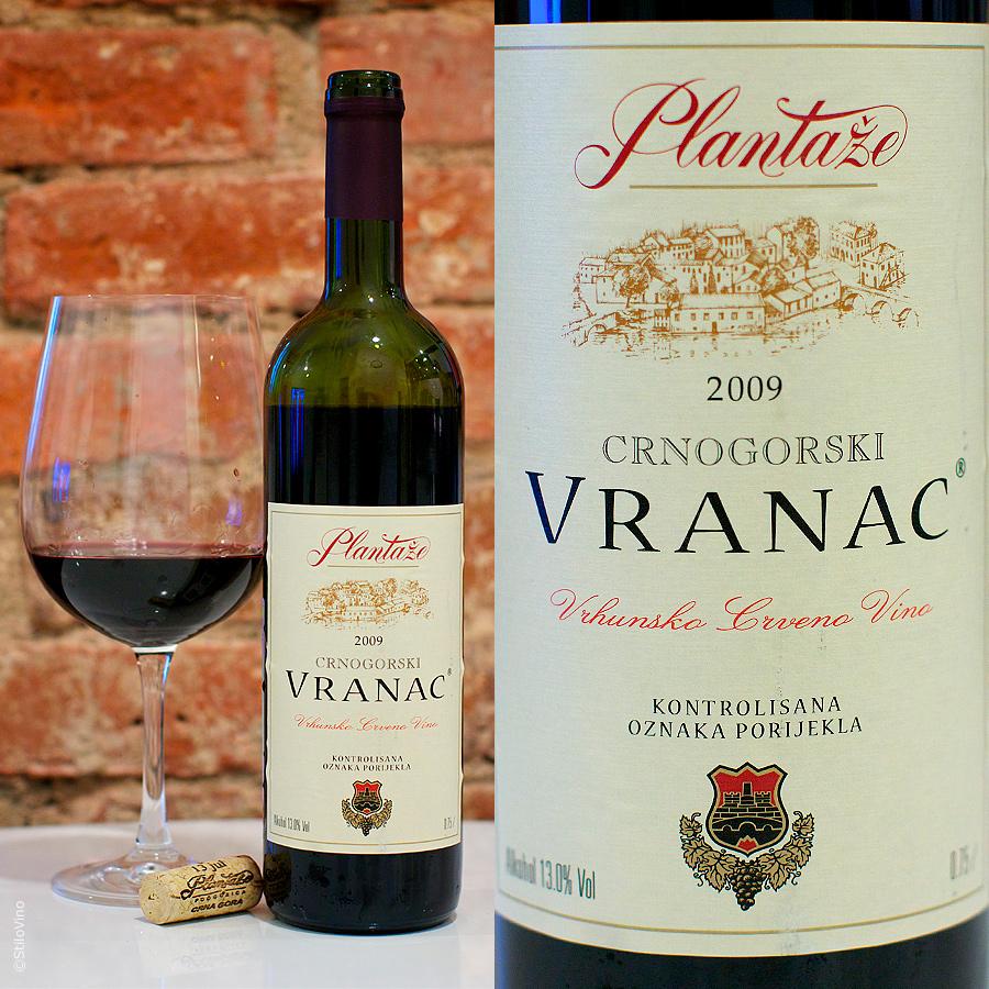Бутылка вина Вранац