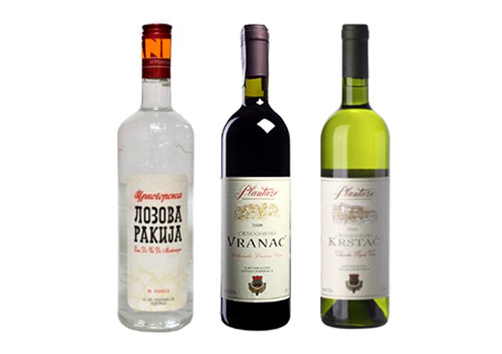 самые известные алкогольные напитки Черногории