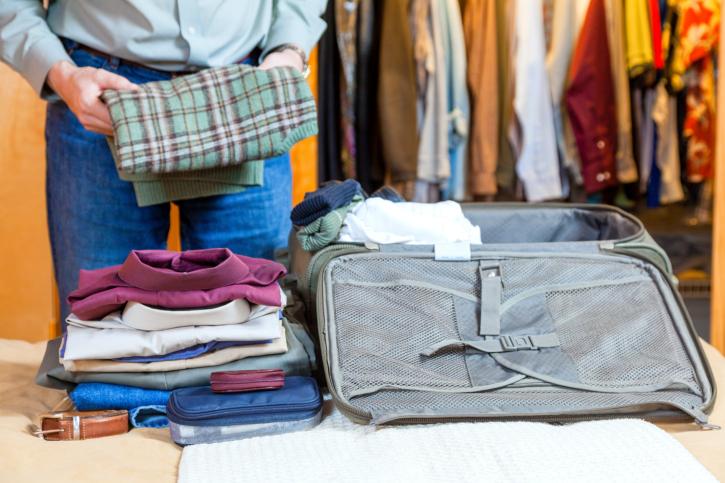 Фото: классический прием складывания предметов одежды