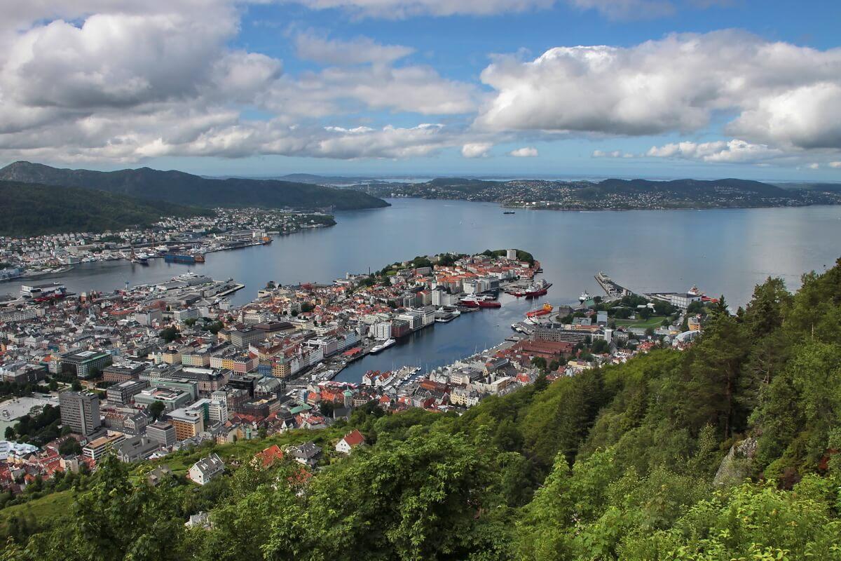 Что посмотреть в Бергене: вид на город