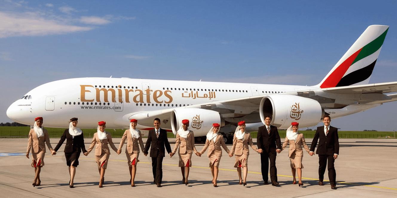Авиалайнер компании Emirates