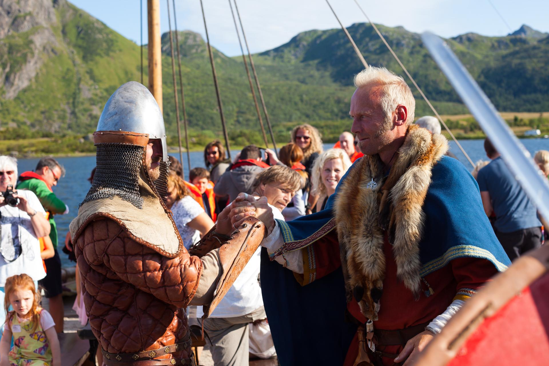 Гиды в музее викингов