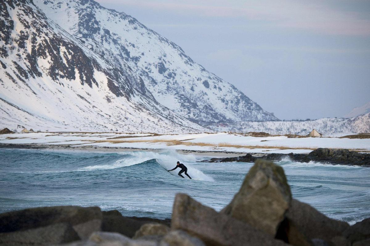 Фото: серфинг в Норвегии