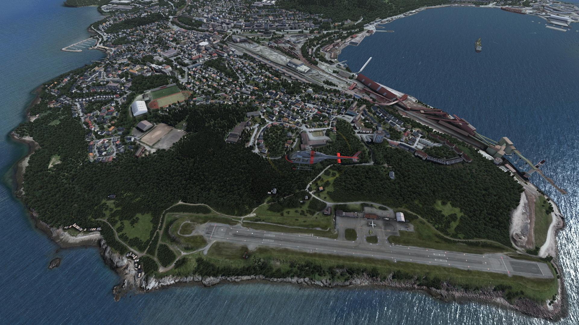 Фото: вид на город с воздуха