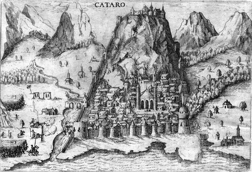 Карта Котора времен средневековья