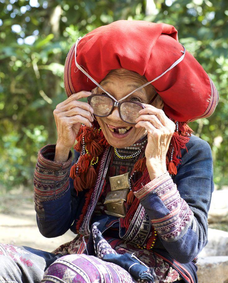 Фото: женщина народности Красные Дао