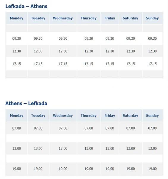 Расписание автобусов из Афин