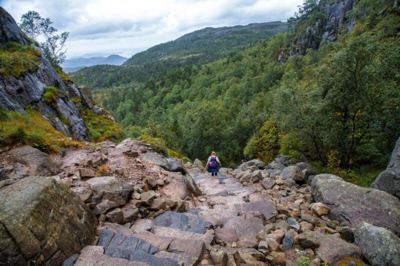 Лестница из камней Прекестулен