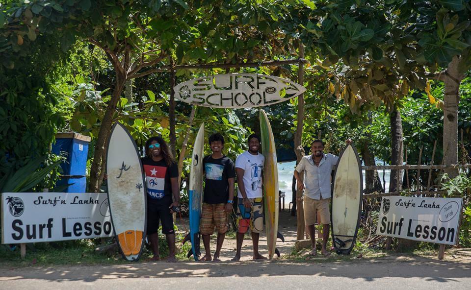 Школа серфинга на Шри-Ланке