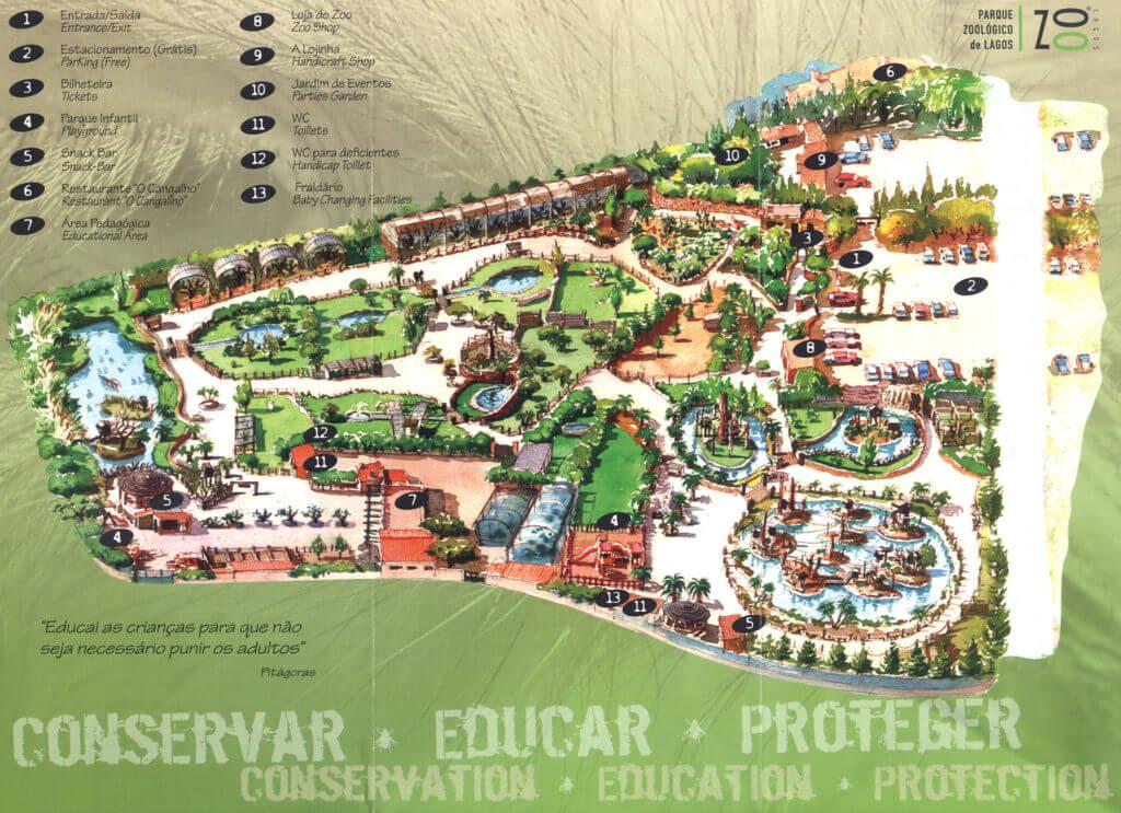 Карта Parque Zoologico de Lagos