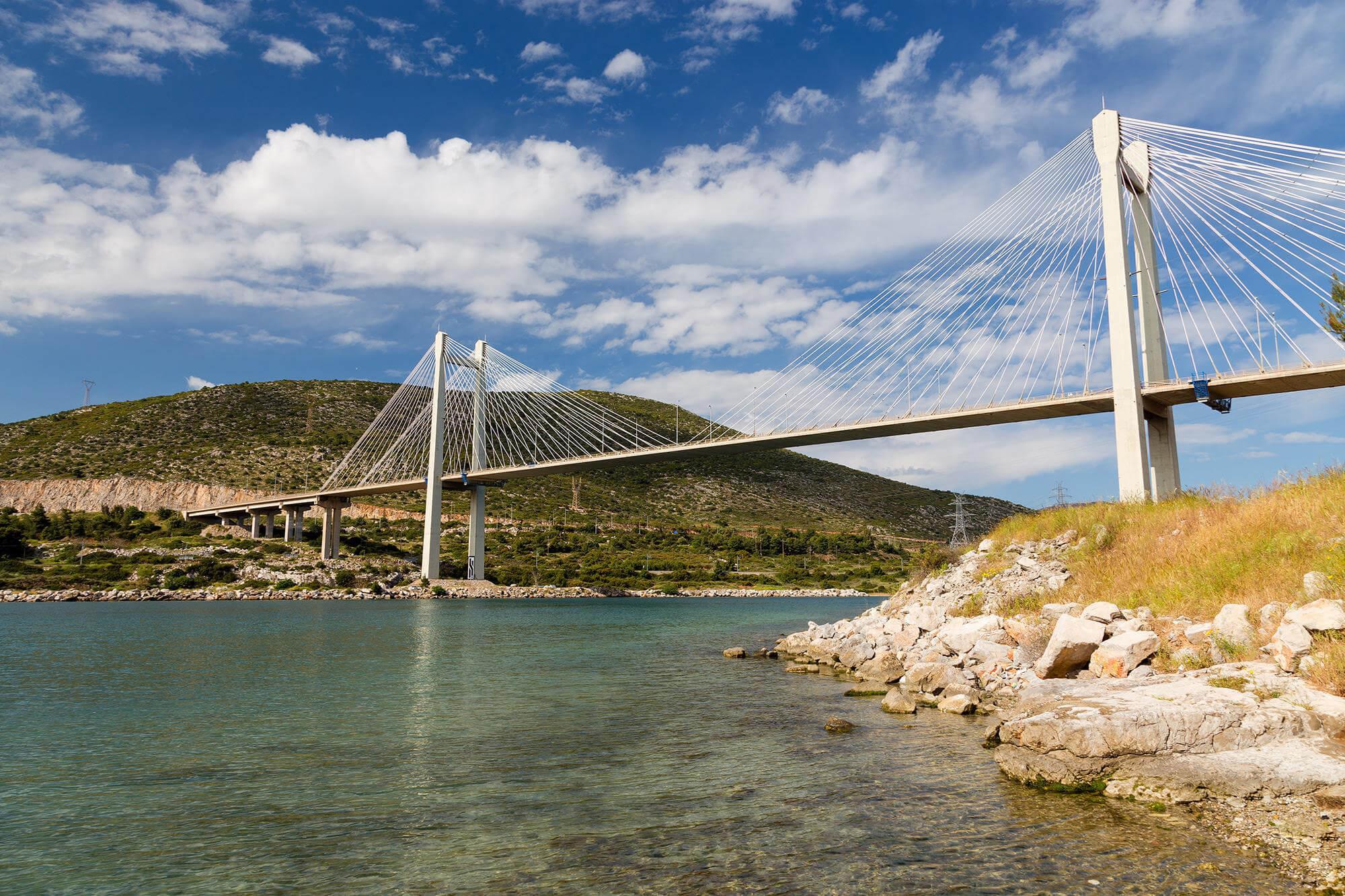 Подвесной мост в Халкиду