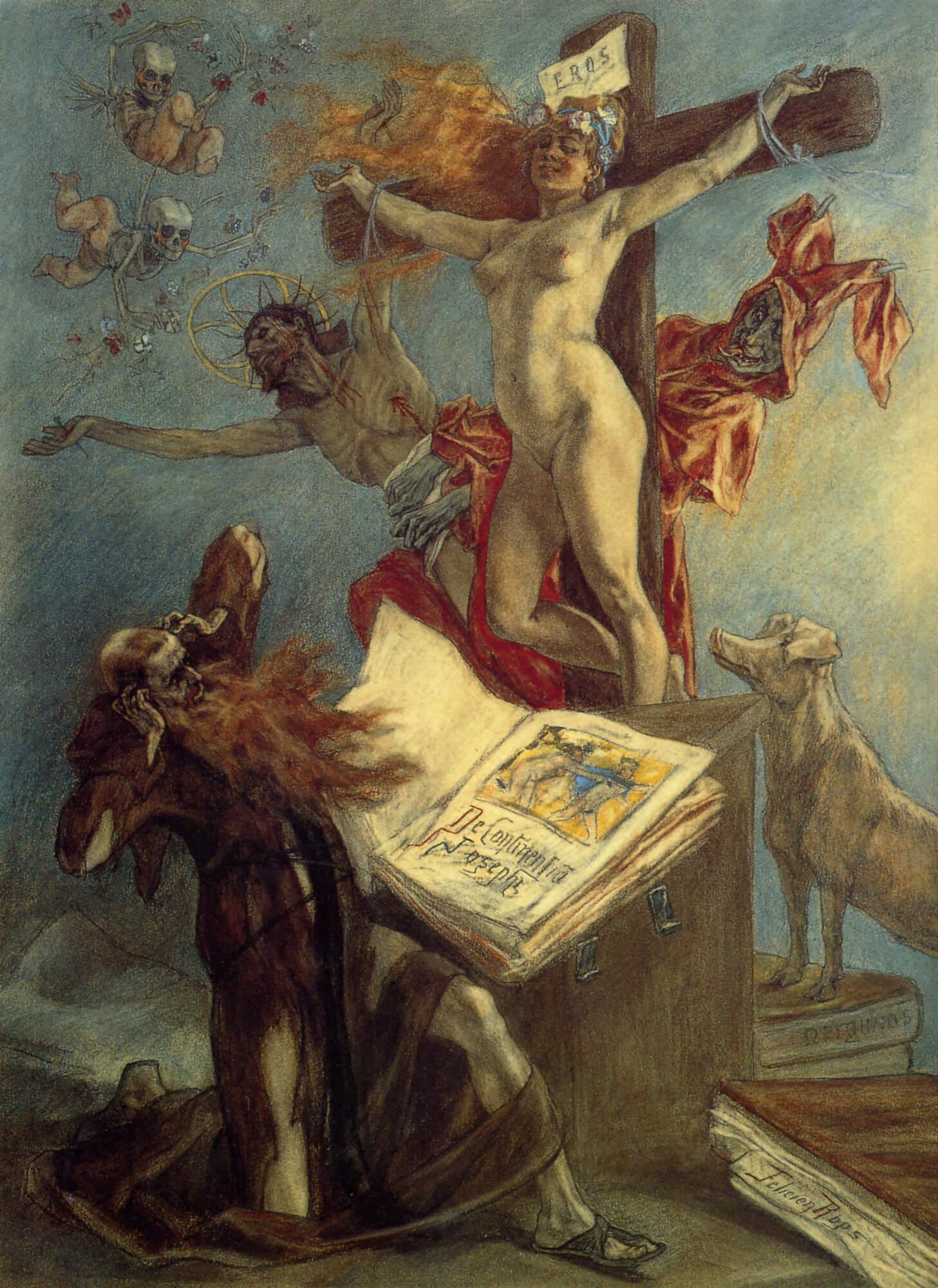 Картина Искушение святого Антония Фелисьена Ропса