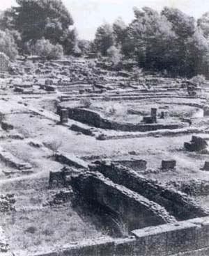 Олимпия во время раскопок
