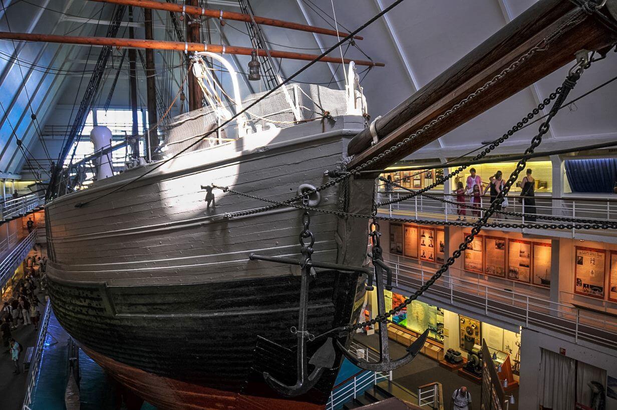 Фото в музее Фрама