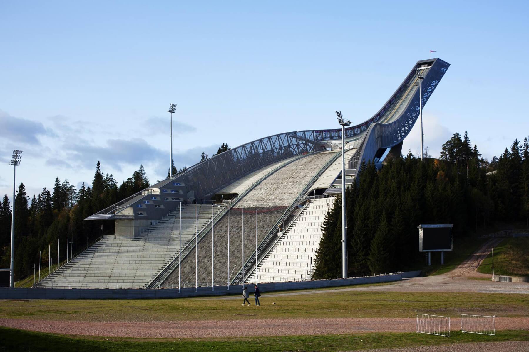 Лыжный музей и лыжный трамплин Холменколлен