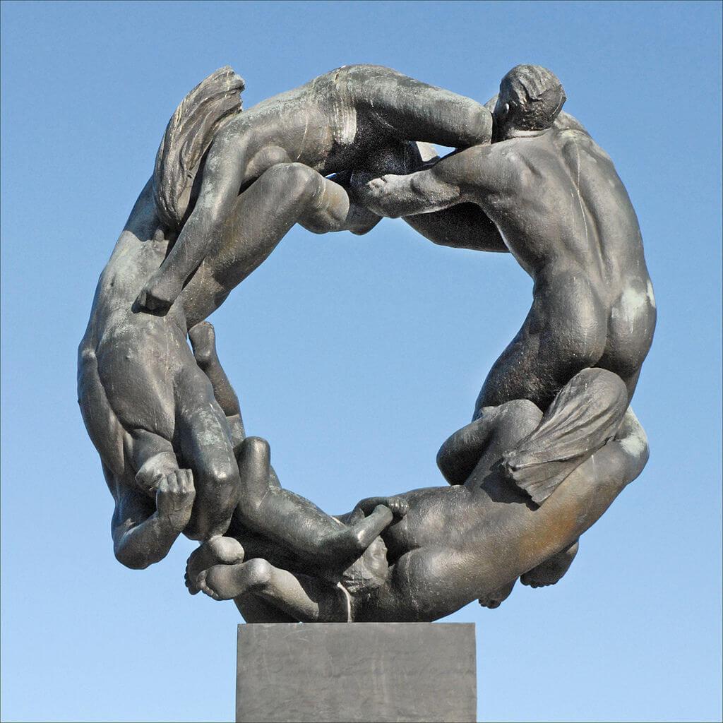 Скульптура Колесо жизни
