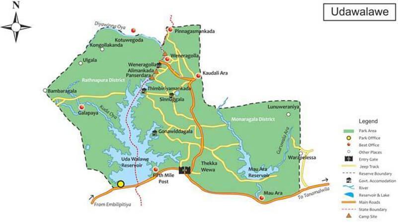 Карта Удавалаве