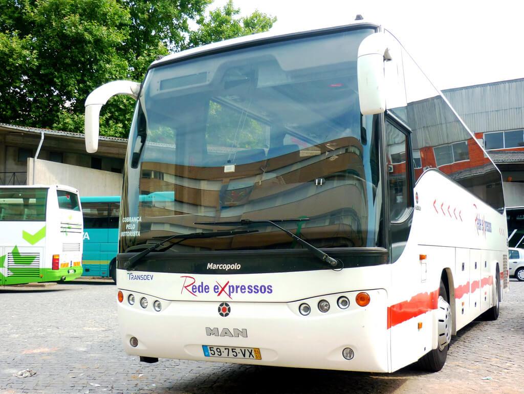 Автобус перевозчика Rede Expressos