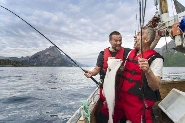 Рыбалка в Согнефьорд, Норвегии