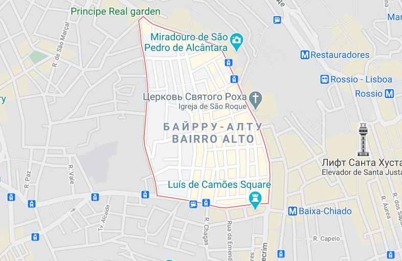 Карта Байрру-Алту