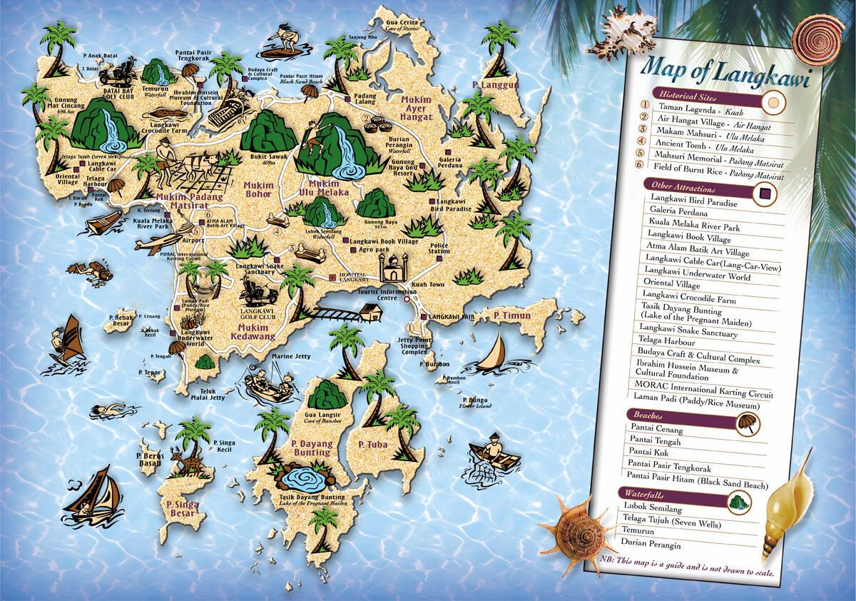 Карта Лангкави