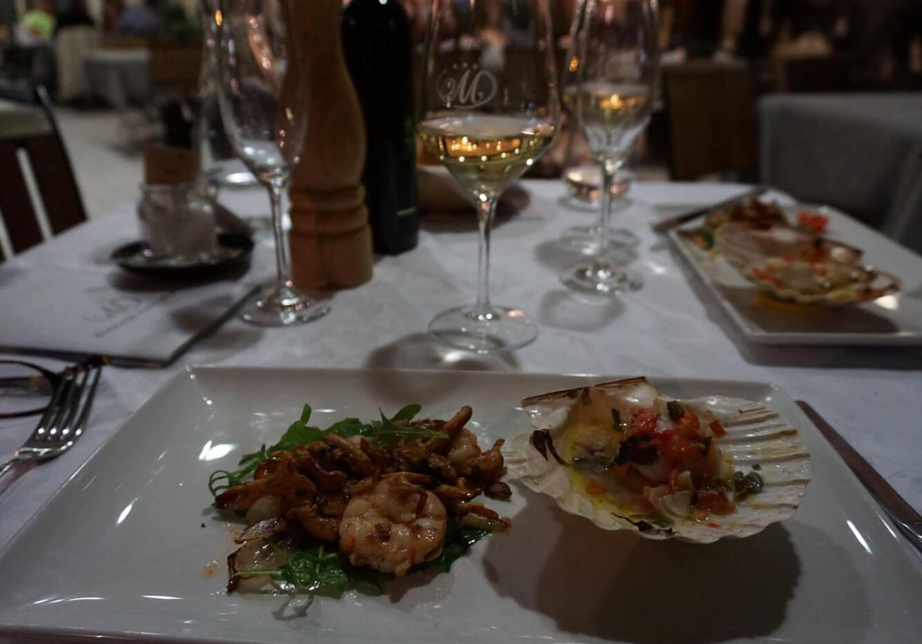 Ужин в ресторане Marina