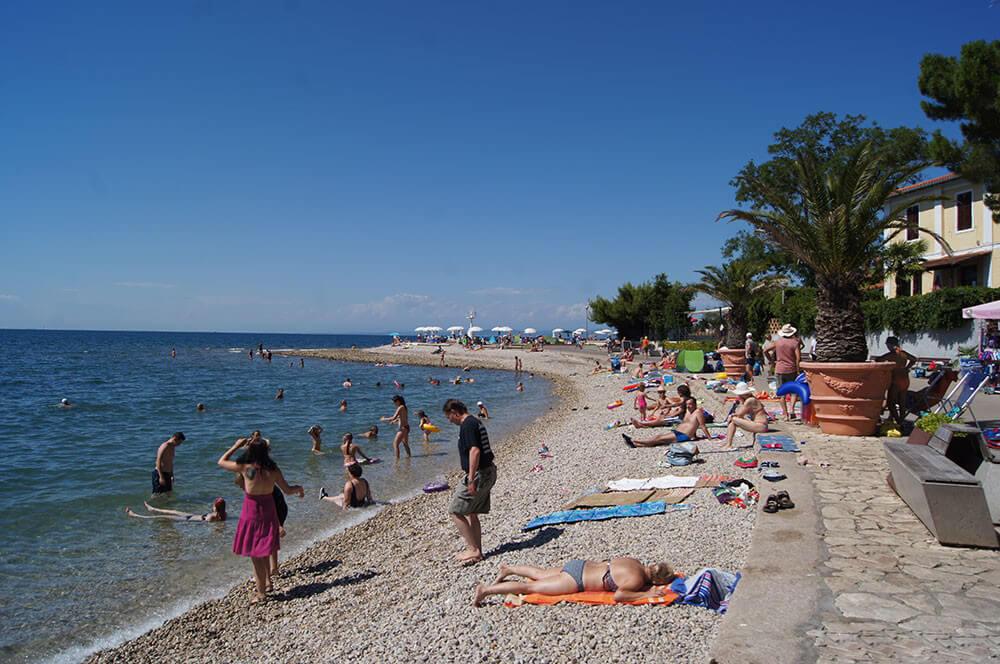 Центральный пляж Изолы, Словения