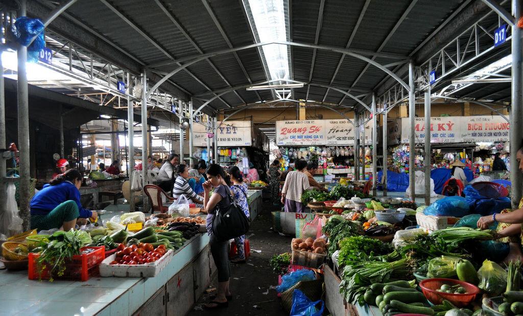 Овощные ряды на рынке Ксом Мой, Нячанга