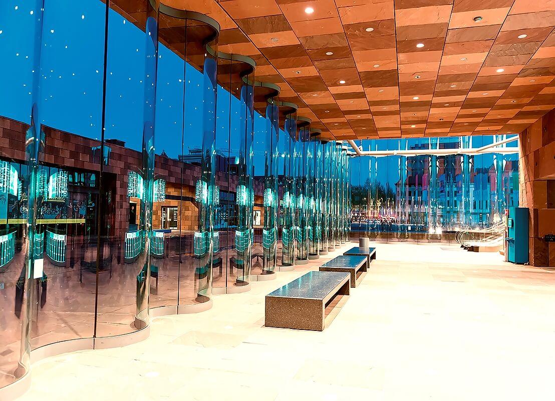 Холл в музее Ан де Стром
