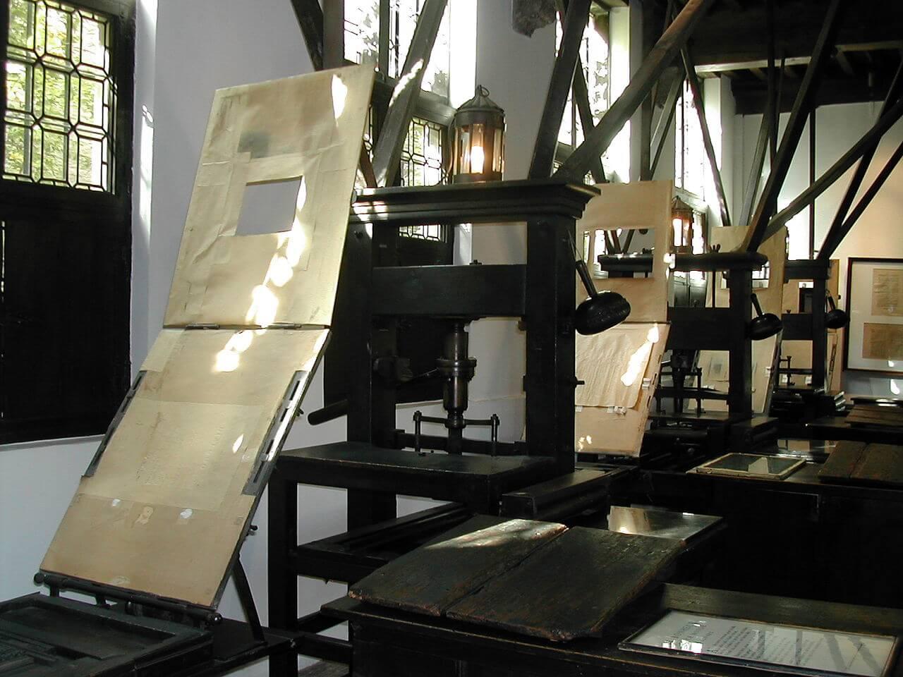Музей Плантена-Моретуса, печатные станки