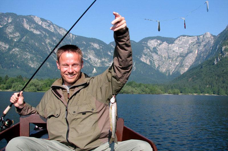 Рыбалка на озере Бохинь