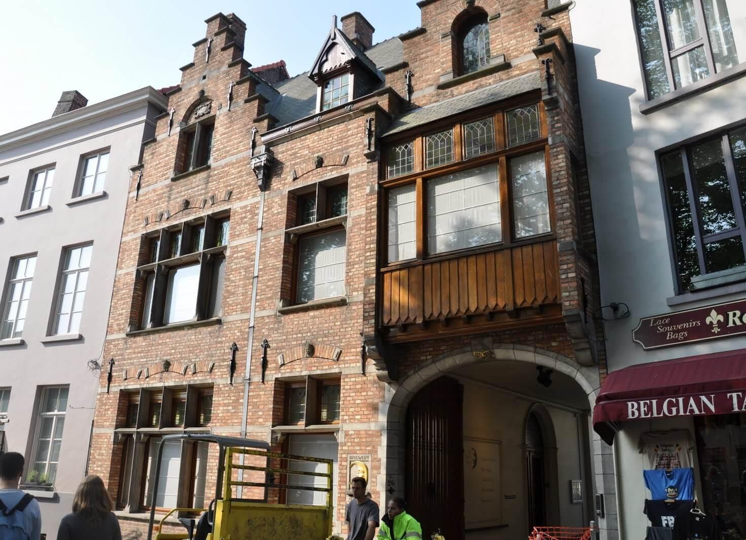 Здание музея пивоварения De Halve Maan Brewery в Брюгге