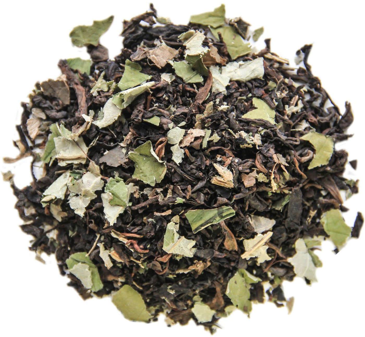 Зеленый чай с листьями лотоса