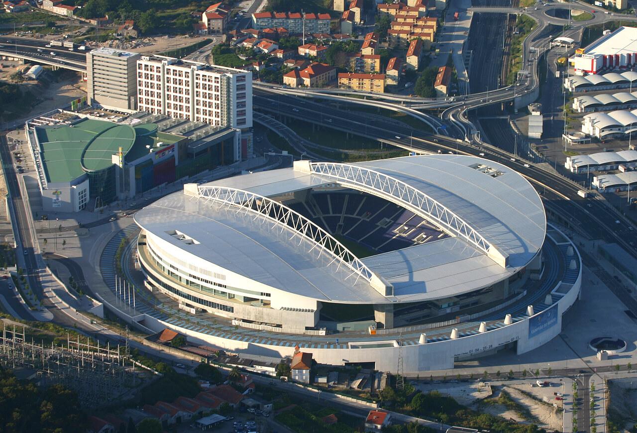 Вид сверху на стадион ФК «Порту»
