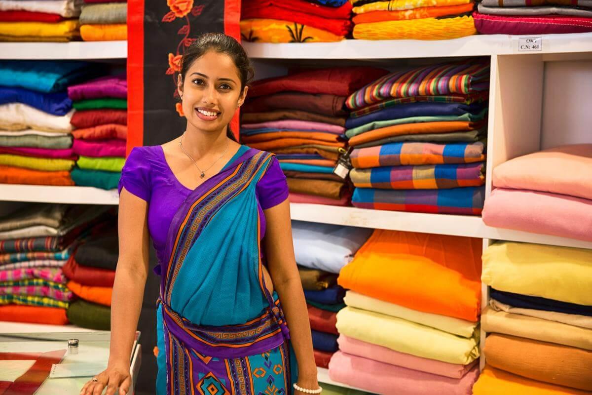 Ткань на Шри-Ланке