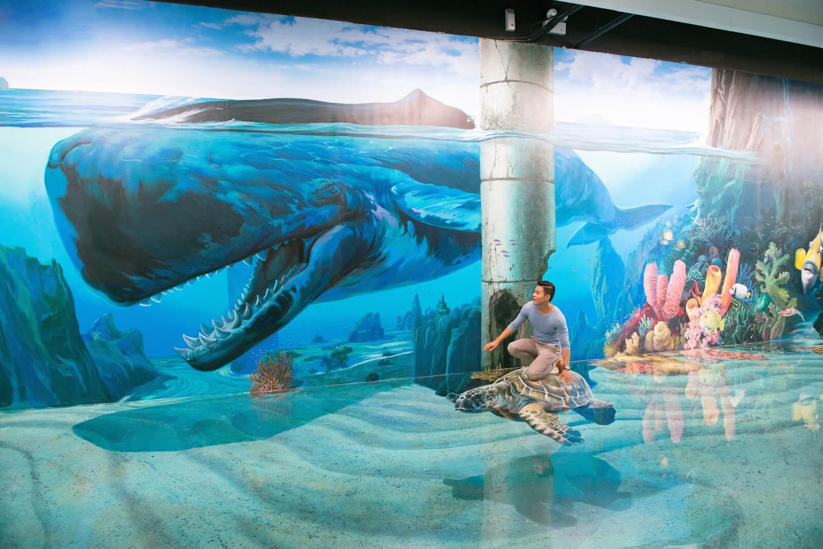 Огромная картина с 3D эффектом в Artinus 3D Art Museum