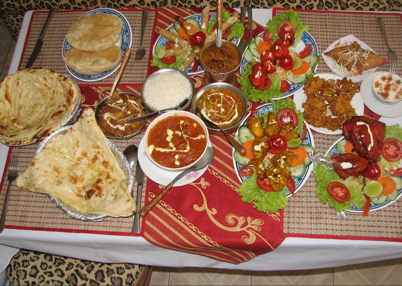 Ужин в Omar's Tandoori cafe