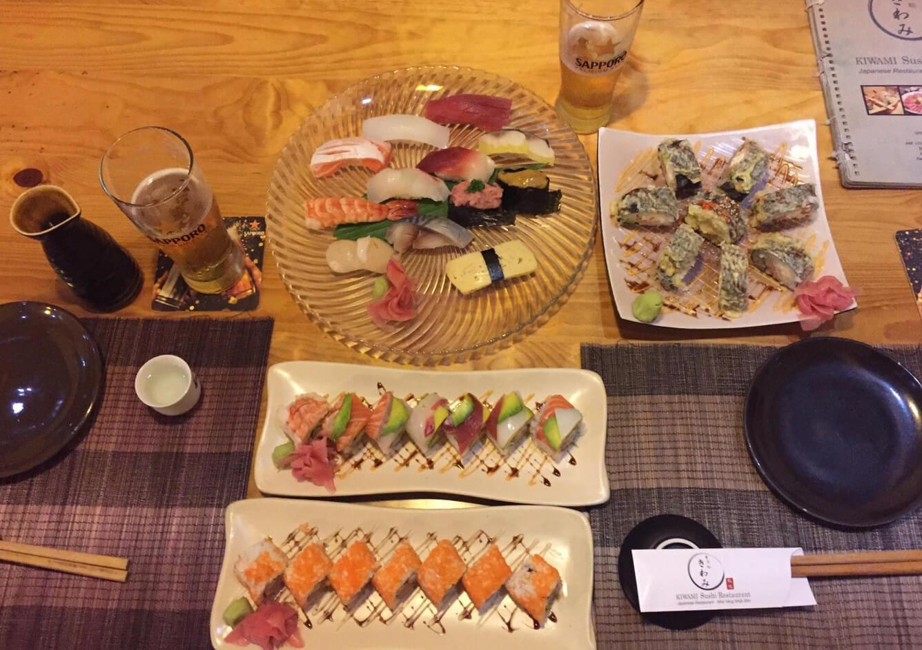Суши в кафе Kiwami