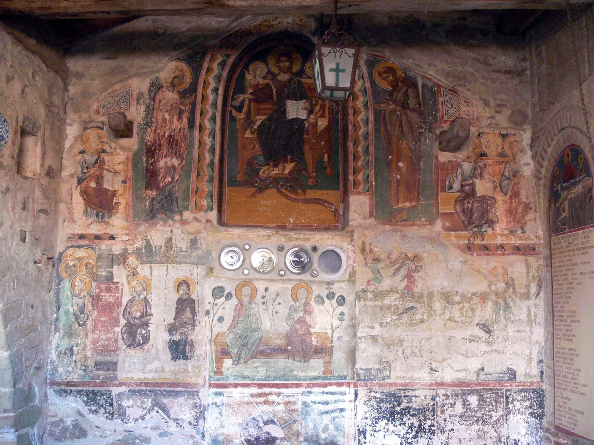 Фреска Второе Пришествие в монастыре Мегала Метеора