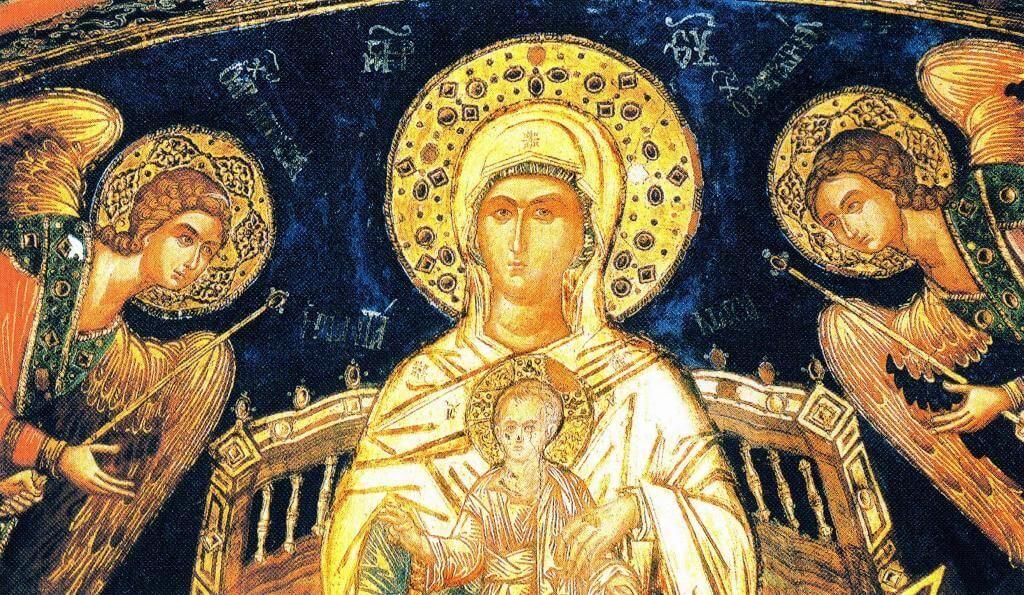 Фреска Богородица - Ширшая небес