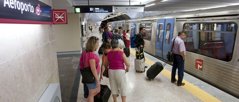 В метрополитене Лиссабона